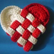 Un coeur croisé , au crochet celui-là !