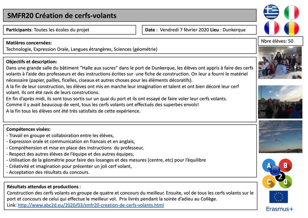 SMFR20 14 actions pédagogiques à Dunkerque