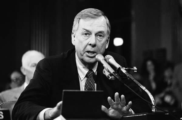 T. Boone Pickens in 1984. A trained geologist, he founded the independent oil and natural-gas company Mesa Petroleum. David Pickoff/Associated Press