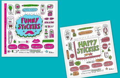 Stickers Happy et Funny.