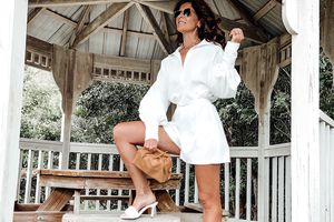 Glam white romper