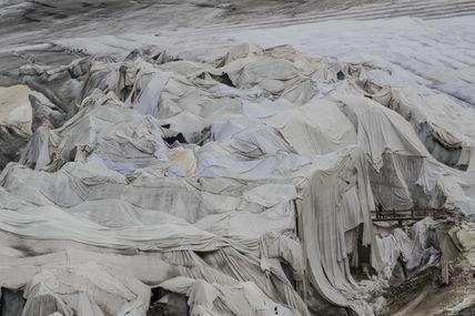 glacier bâché