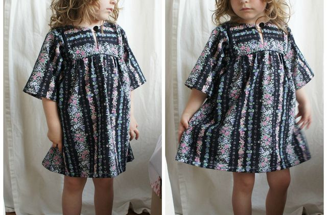Recycled: une robe fleurie