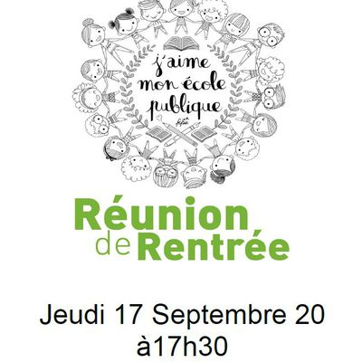 REUNION DE RENTREE FCPE