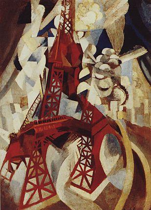 La Tour Eiffel, de Robert Delaunay, 1910