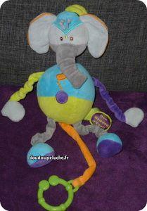 doudou éléphant doudou et compagnie bleu vert ENVOI SUIVI OFFERT