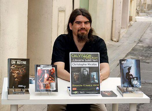 Christophe Nicolas en dédicace en 2012 à la librairie Soleil Vert (Calvisson, Gard)