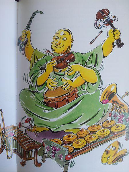 Piccolo Saxo et Compagnie. Raconté par François PERIER et illustré par PEF. Livre-cd dès 5 ans.