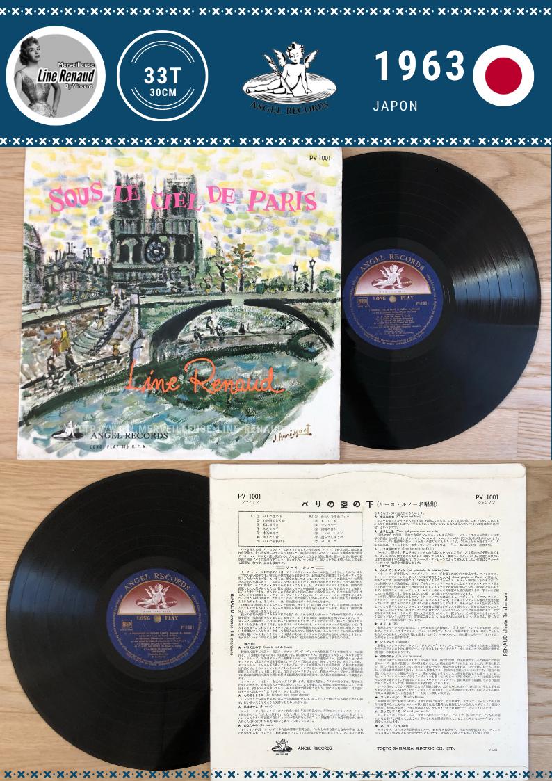 33 TOURS: 1963 Angel - PV 1001 - Line Renaud Sous Le Ciel De Paris