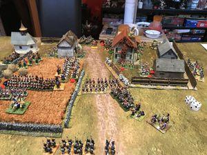 il ne reste bientôt plus que les fermes occupées par les troupes anglaises