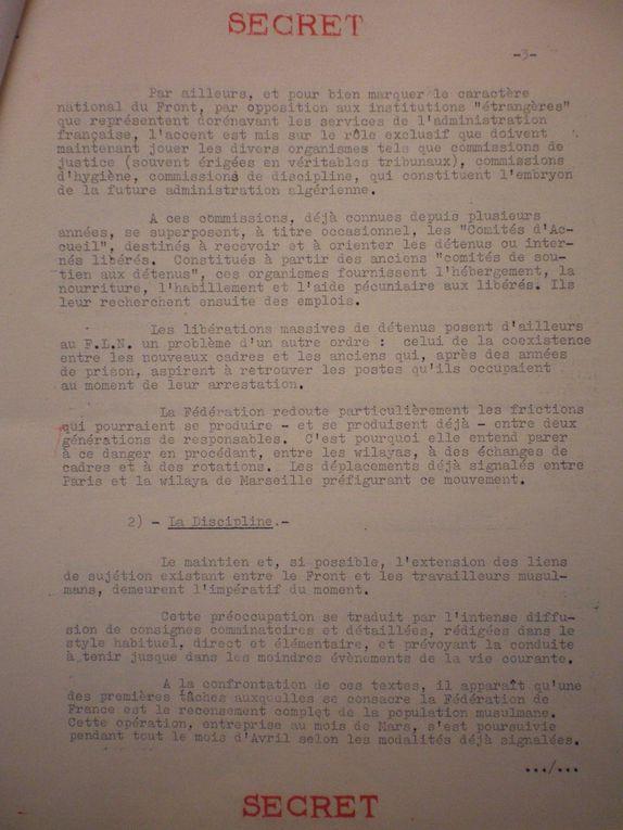 Album - Documents secrets sur les Harkis, dossiers, consignes du FLN,Parti communiste Français.