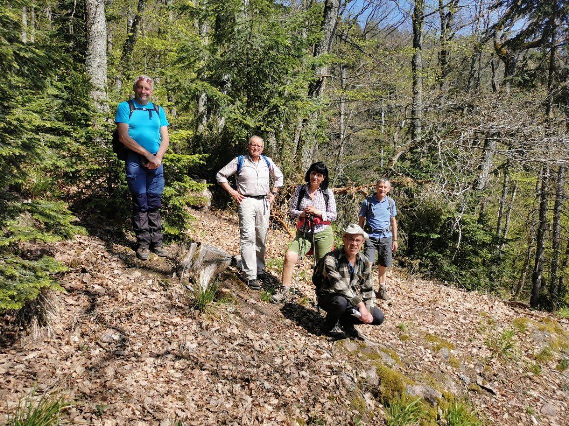 C'était mercredi 28 avril, avec les randonneurs, autour du Galtz