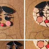 Dessous de plat babuska en mosaïque