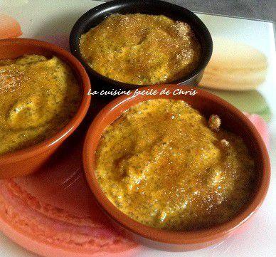 Potimarron aux graines de chia, façon crème brûlée