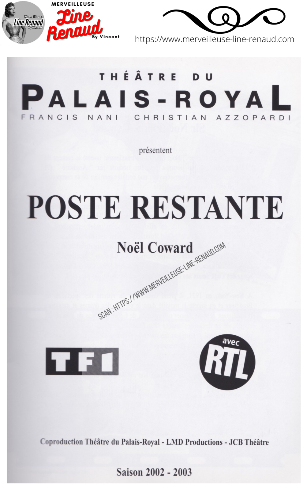 Programme Poste Restante 2002