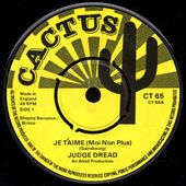 judge dread : je t'aime (moi non plus) - 45t Cactus CT 65 - l'oreille cassée