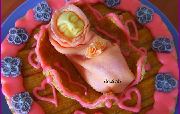 Un gâteau d'anniversaire amande et nougatine...