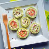 """Roulé au brocoli saumon ou bacon pour """"Mes enfants raffolent des légumes ou presque :-("""" - Les Secrets de Cuisine de Christine"""