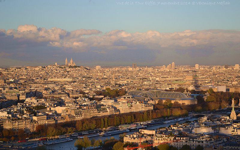 Coucher de soleil vu de la tour Eiffel