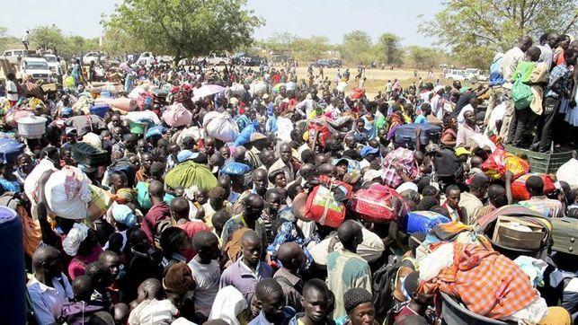 Imágenes: tres días de combates en la capital sursudanesa, Juba, provocan 36.000 desplazados.- El Muni.
