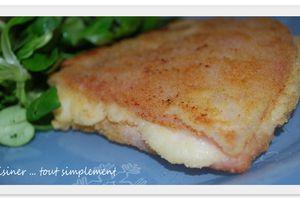 Jambon Pané et farci au Fromage