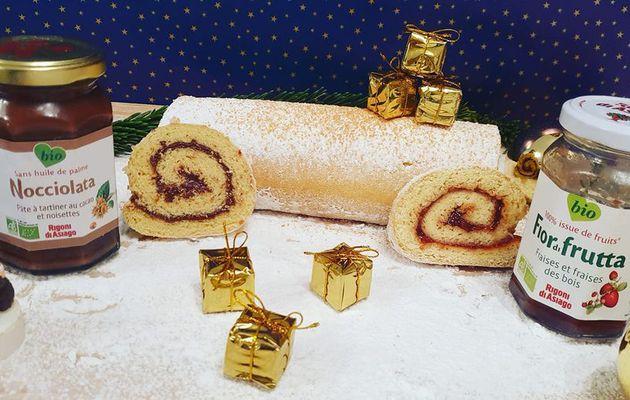 Gâteau roulé à la confiture et à la pâte à tartiner sans gluten