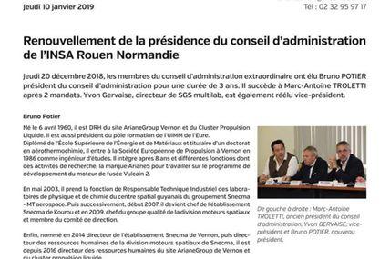 Renouvellement C.A INSA de Rouen mon nouveau mandat VP pour 3ans