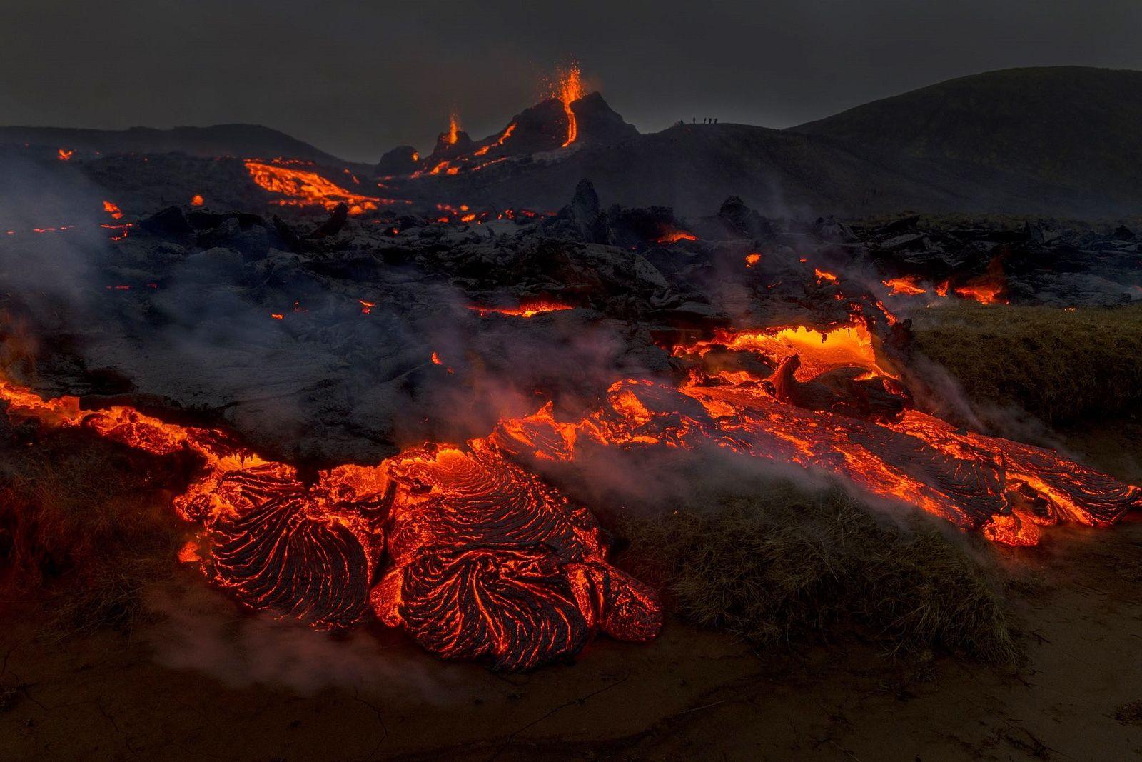 Geldingadalsgos  - une petite éruption, mais un grand spectacle - photo  Ragnar Axelsson 21.03.2021