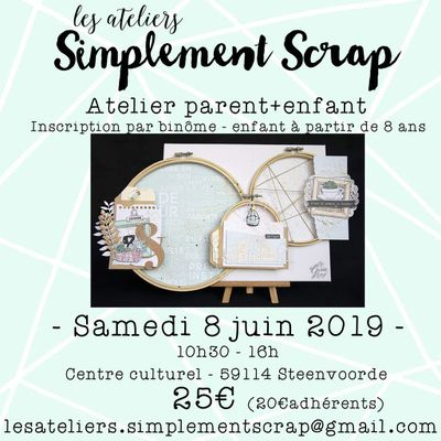 "Atelier Home-déco en duo ""Parent-Enfant"" le 8 juin !"