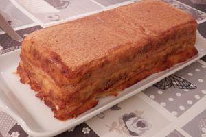 Croque cake au boeuf haché et mozzarella