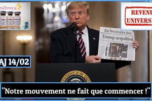 SUR LE WEB | Revue de presse du 14/02/21 • Censure, Vaccin AstraZeneca, Revenu Universel, Marionnette Greta, Fraude électorale, Trump acquitté !