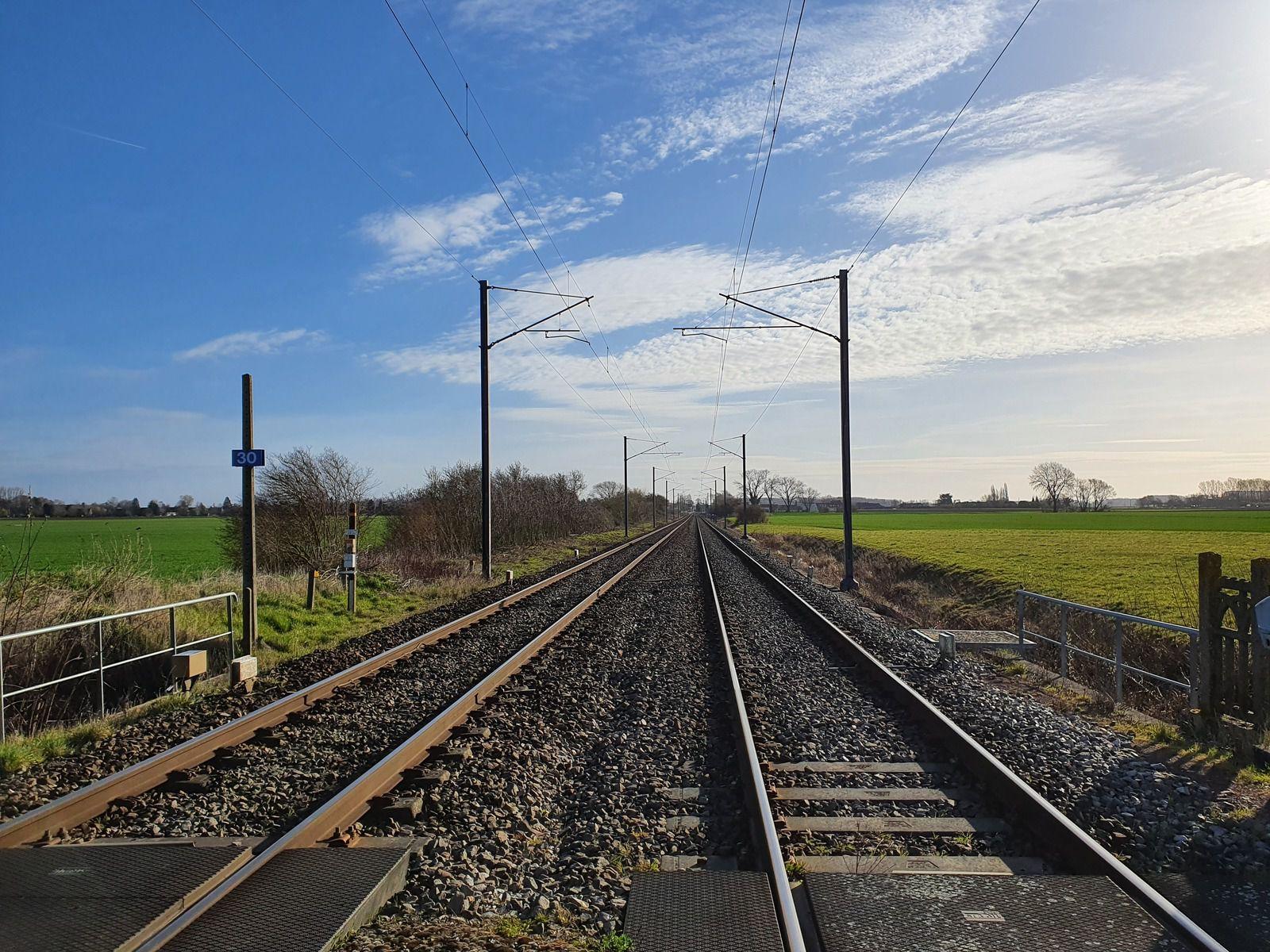Marquillies, ligne de chemin de fer Don-Sainghin - Béthune