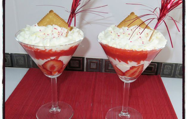 Coupe fraise chantilly