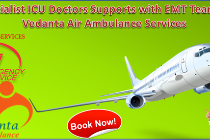 Specialist ICU Doctors Supports with EMT Team by Vedanta Air Ambulance Service in Delhi