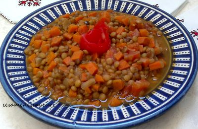 Lentilles aux carottes
