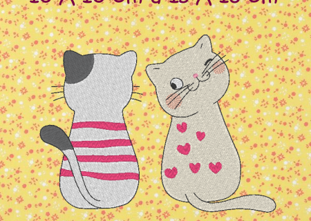 ALC-Broderie les 2 chatons