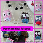 Creating my way to Success: Perching Owls - a clothes upcycle tutorial