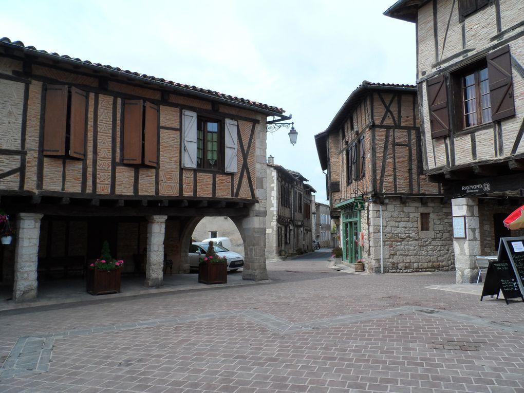 Première étape Castelnau de Montmiral. Têtus, nous avons tout de même pris quelques sentiers dont un que les vaches avaient piétiné peu de temps avant, inroulable !