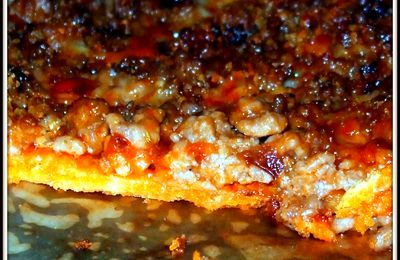 pizza de carne a la barbacoa prueba ¡¡¡ apta crujiente