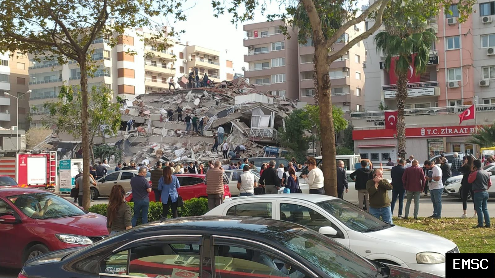 A building collapsed following the earthquake of the day in Turkey. - EMSC photo
