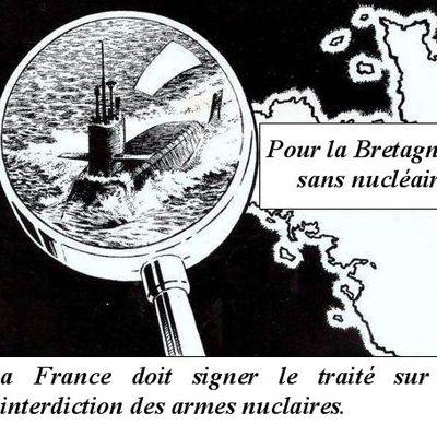 La France doit signer le traité d'interdiction dess armes nucléaires.