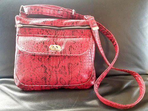 sac polka sacôtin croco rouge #polkasacôtin
