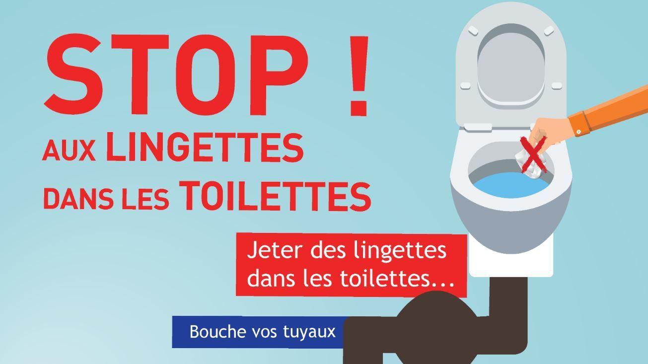 Pas de lingettes dans les toilettes !
