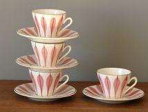 Tasses à café Digoin 9604 Années 60 - Vintage