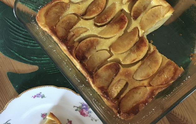 Far au lait ribot et aux pommes caramélisées