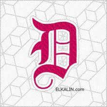 ABC Alexandre 122: la lettre D quiltée