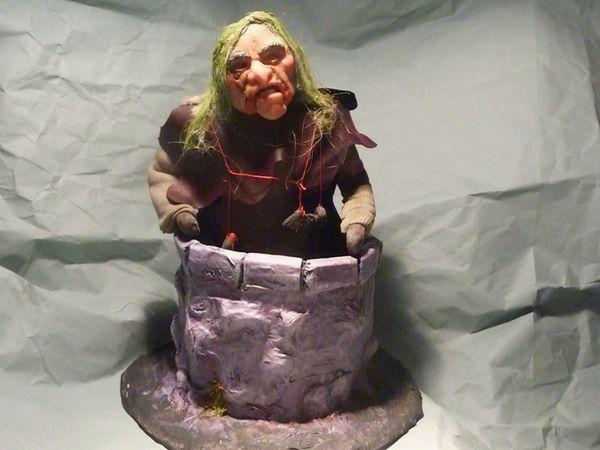 La Vogeotte au puits - figurine animable.