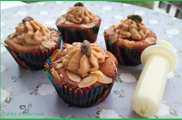 Cupcakes amandes à la confiture de lait
