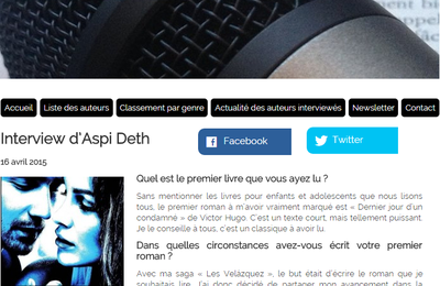 Interview pour le site Paroles d'auteurs (04/2015)