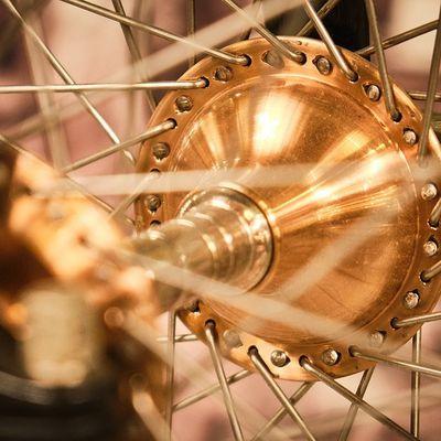 vélo en or !